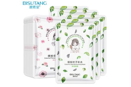 (Ready Stock)Bisutang Colorful Leaf Moisturizing Facial Mask 25ml