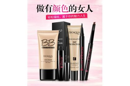 Bioaqua 5in 1 Makeup Set BB Cream Isolation Milk Eyeliner Makeup Set